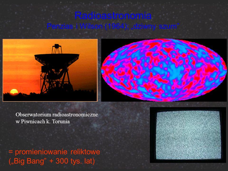 """Radioastronomia Penzias i Wilson (1964); """"dziwny szum"""