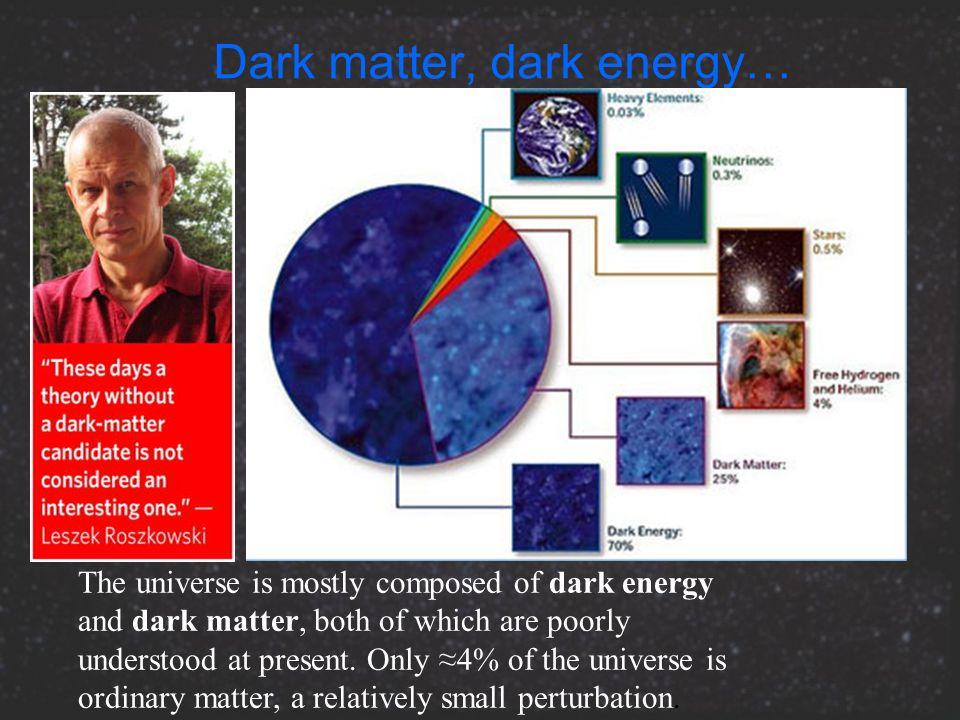 Dark matter, dark energy…