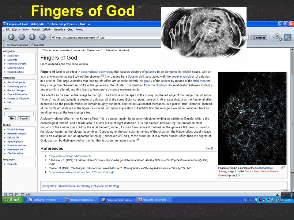 Fingers of God