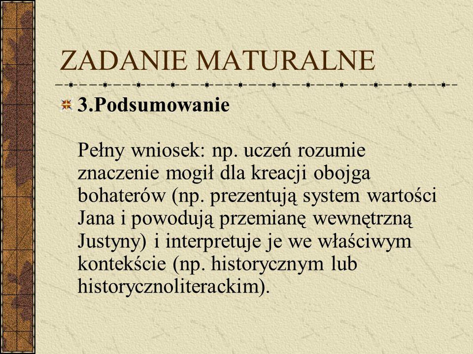 ZADANIE MATURALNE