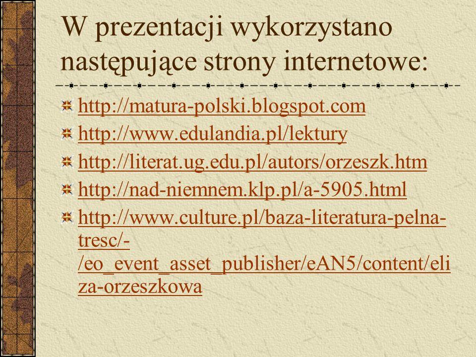 W prezentacji wykorzystano następujące strony internetowe: