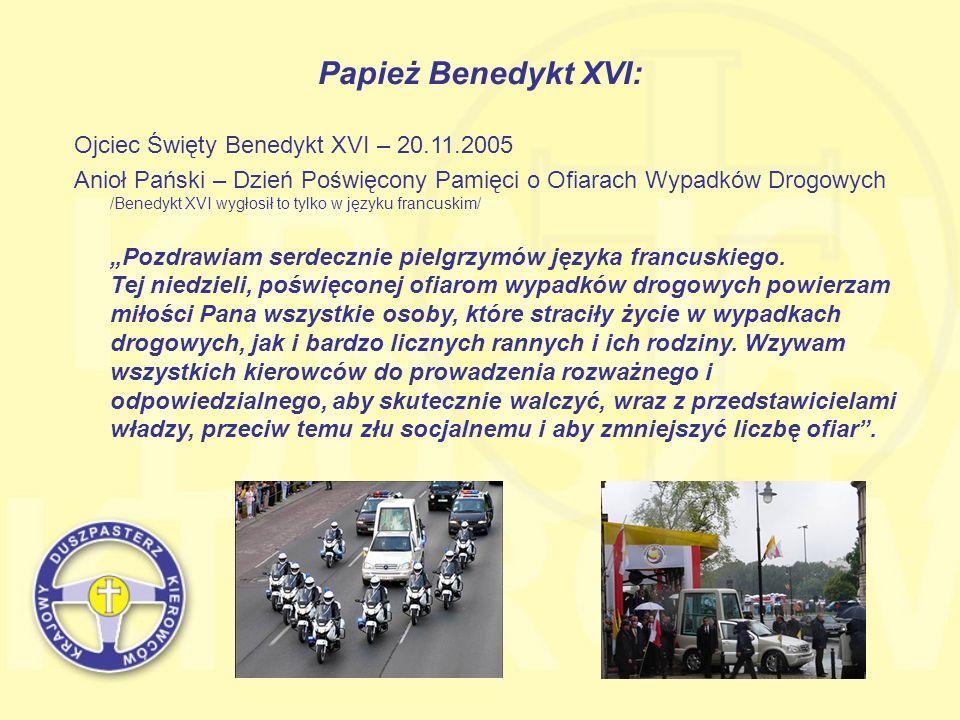 Papież Benedykt XVI: Ojciec Święty Benedykt XVI – 20.11.2005