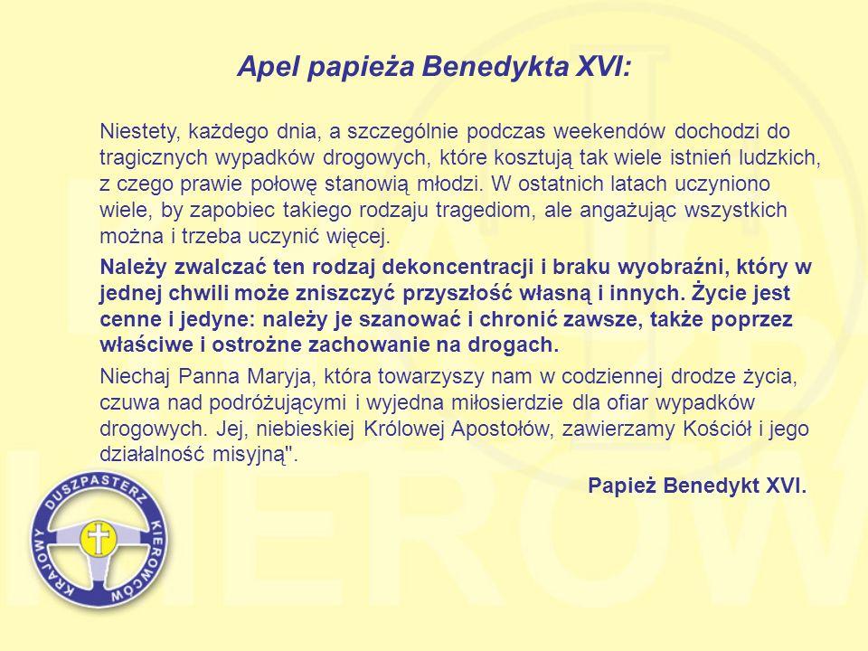 Apel papieża Benedykta XVI: