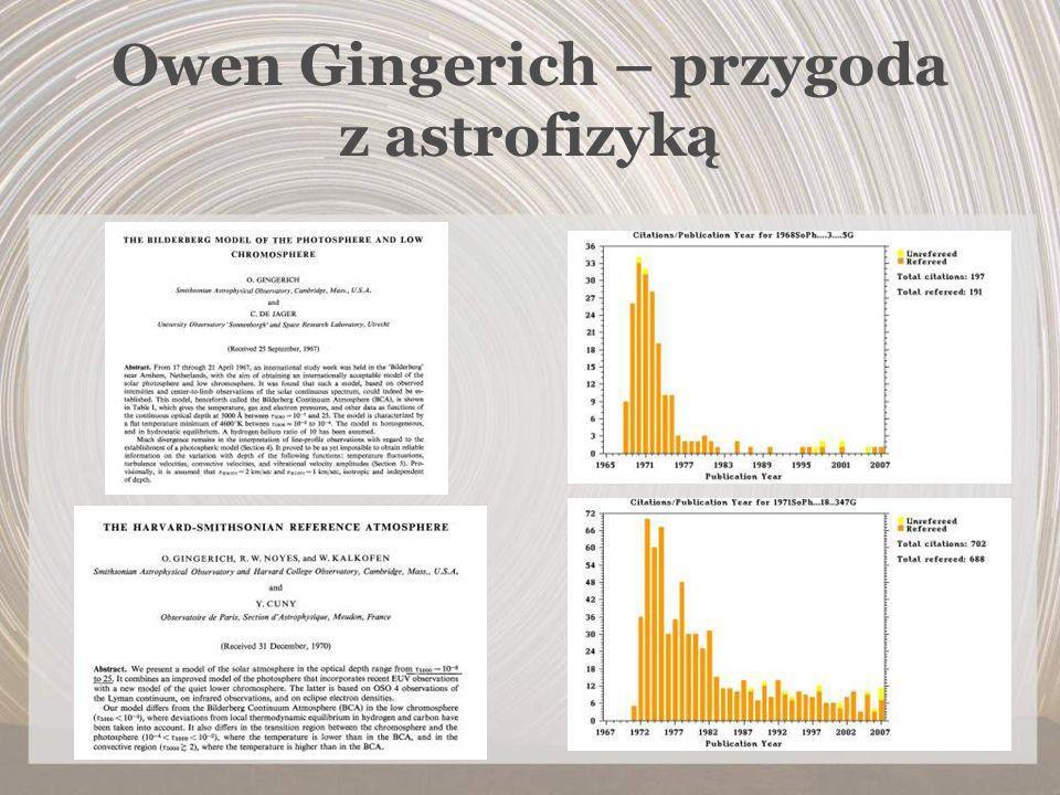 Owen Gingerich – przygoda z astrofizyką
