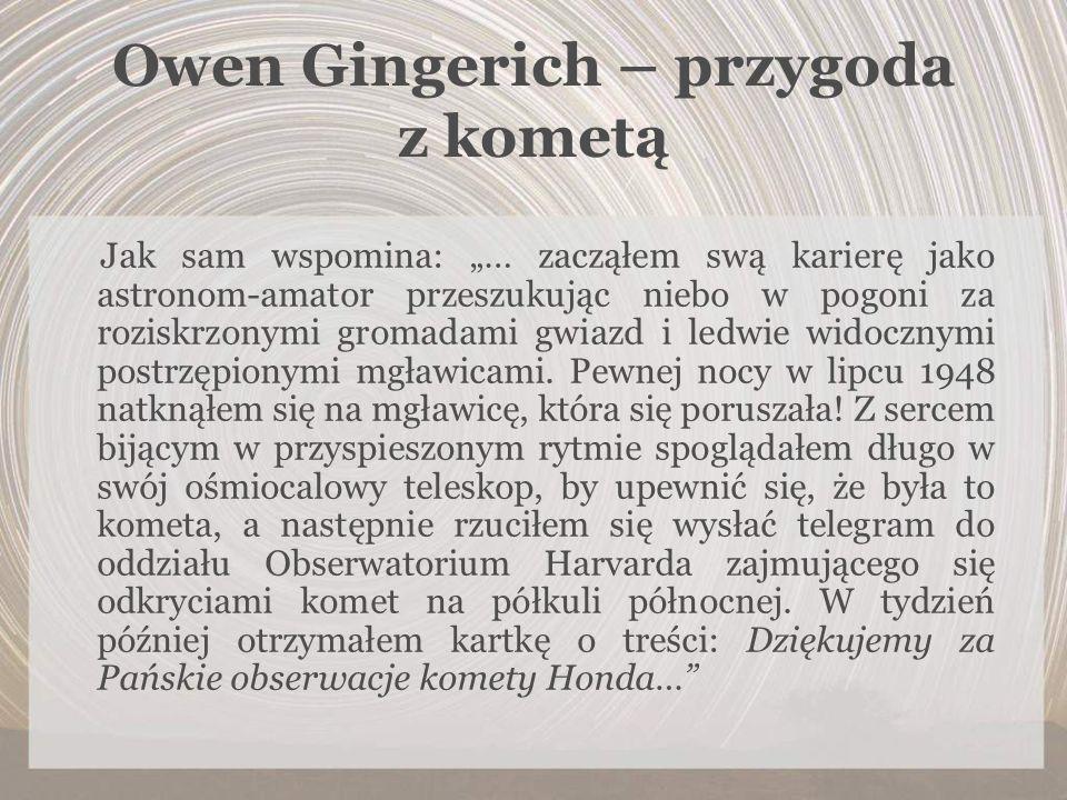 Owen Gingerich – przygoda z kometą