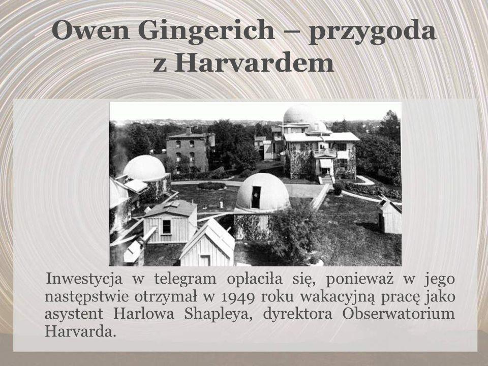 Owen Gingerich – przygoda z Harvardem