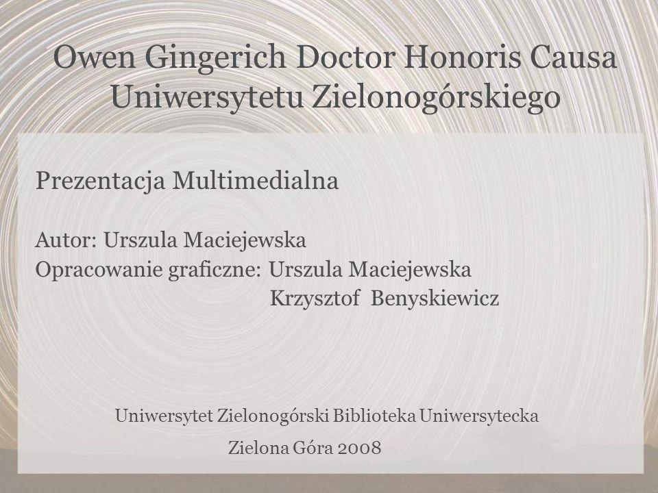 Owen Gingerich Doctor Honoris Causa Uniwersytetu Zielonogórskiego