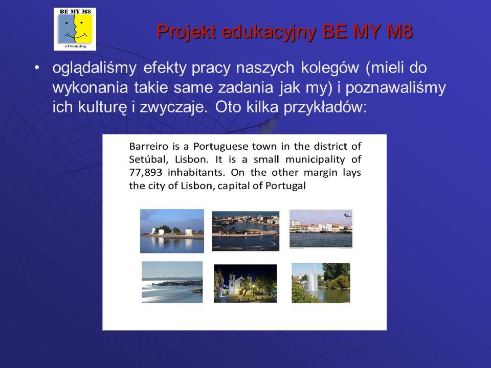 Projekt edukacyjny BE MY M8