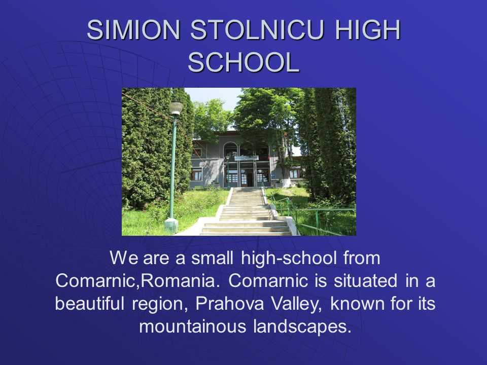 SIMION STOLNICU HIGH SCHOOL