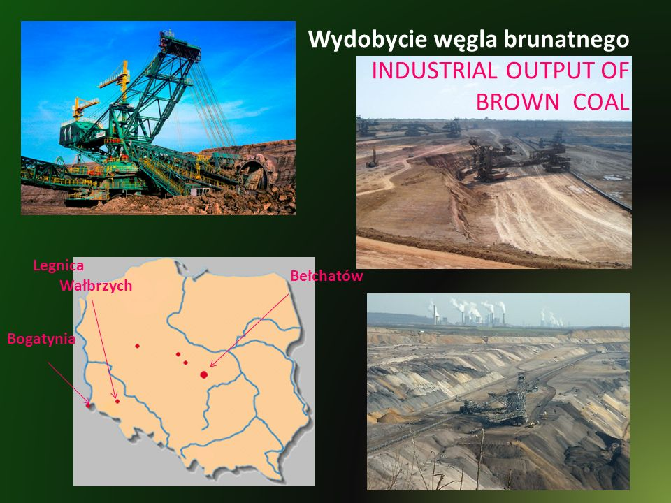 Wydobycie węgla brunatnego INDUSTRIAL OUTPUT OF BROWN COAL