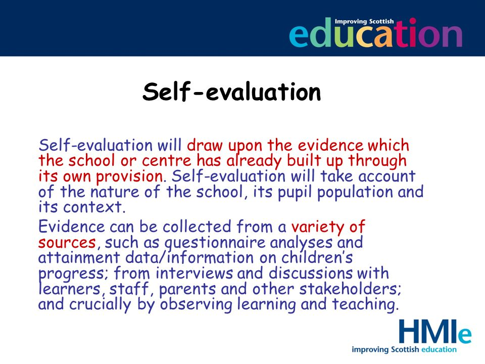 Self-evaluation