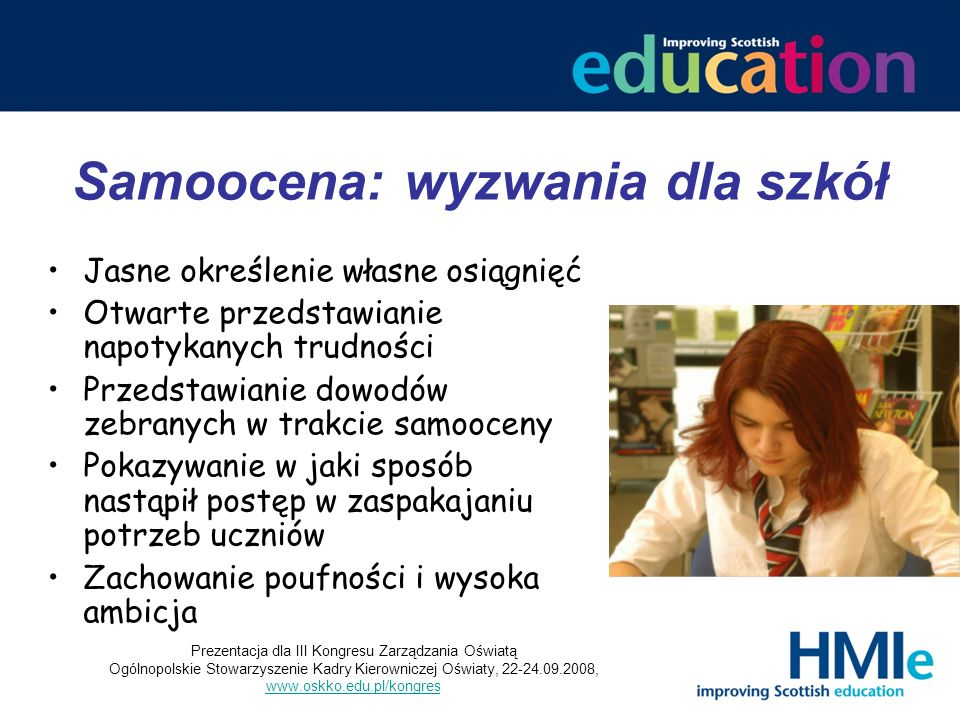 Samoocena: wyzwania dla szkół