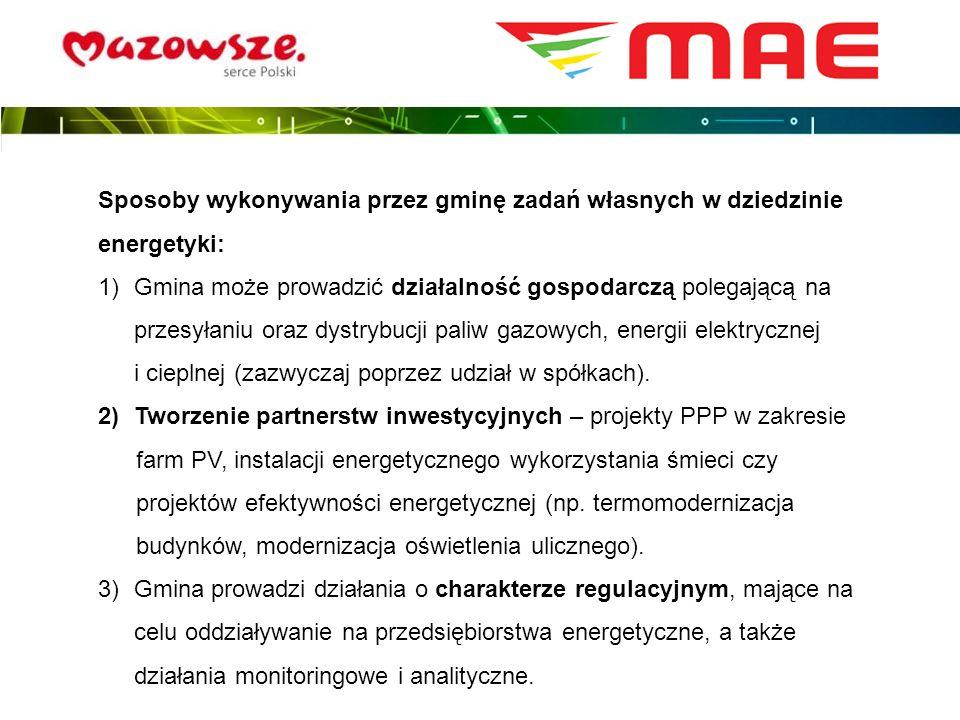 Sposoby wykonywania przez gminę zadań własnych w dziedzinie energetyki: