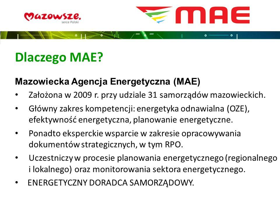 Dlaczego MAE Mazowiecka Agencja Energetyczna (MAE)