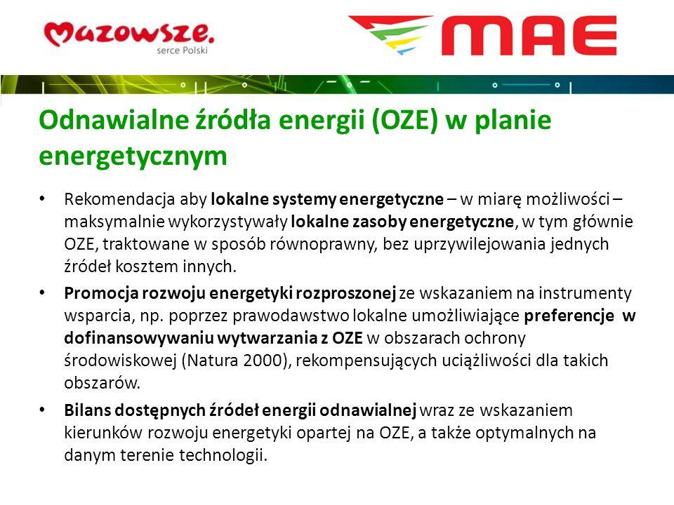 Odnawialne źródła energii (OZE) w planie energetycznym