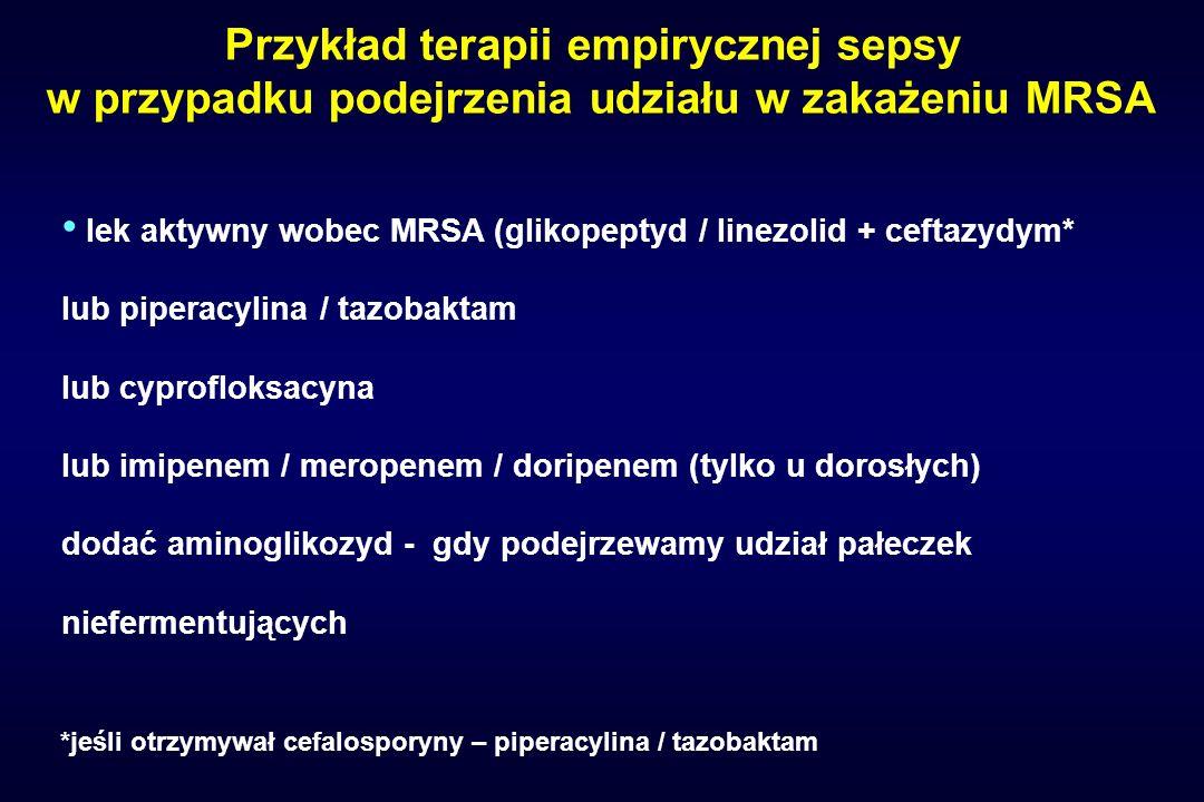 Przykład terapii empirycznej sepsy
