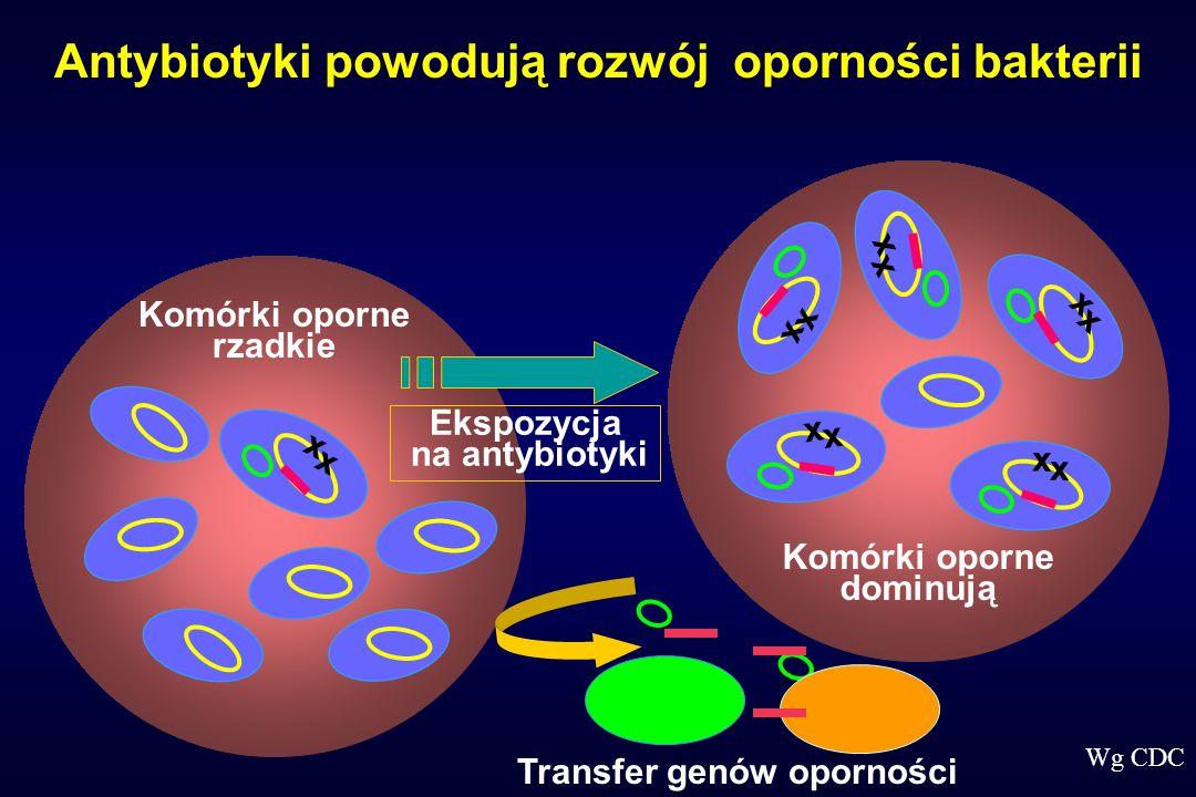 Antybiotyki powodują rozwój oporności bakterii