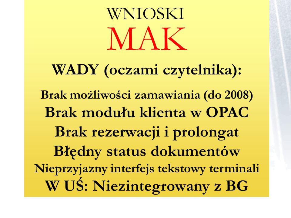 MAK WADY (oczami czytelnika):
