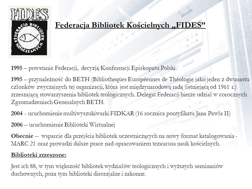 """Federacja Bibliotek Kościelnych """"FIDES"""