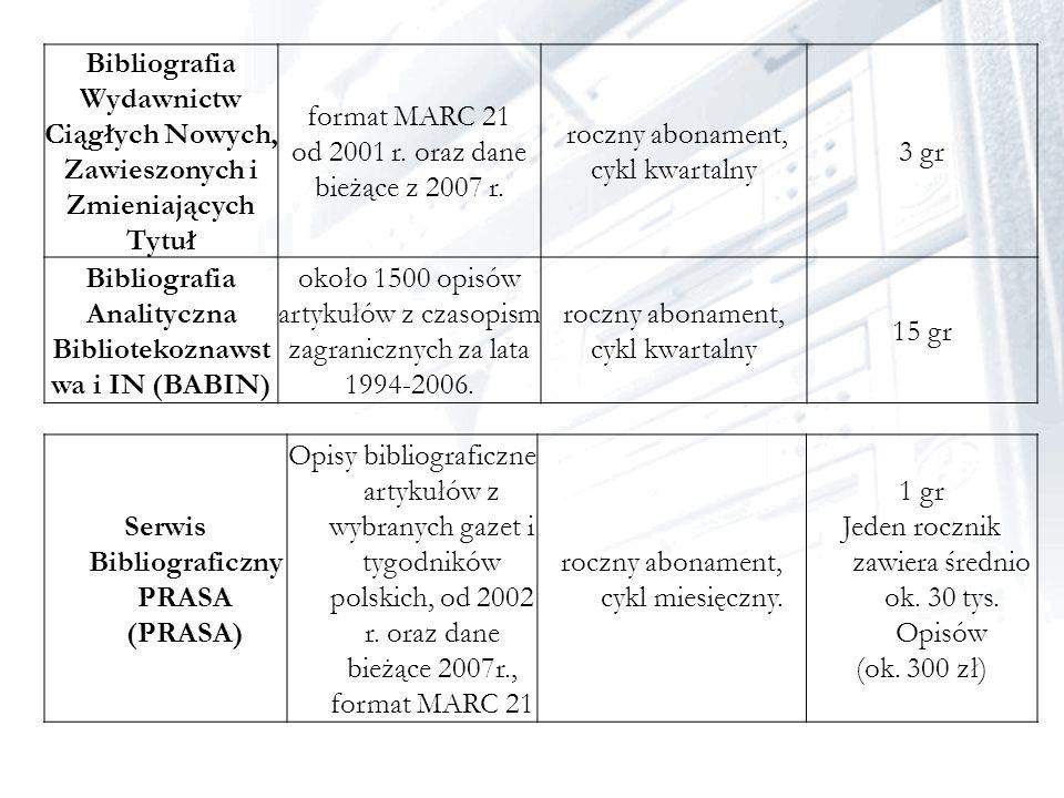 od 2001 r. oraz dane bieżące z 2007 r.