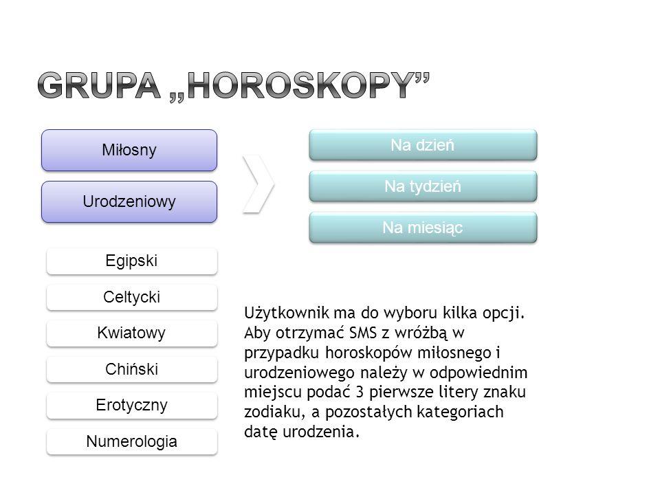 """Grupa """"Horoskopy Na dzień Miłosny Na tydzień Urodzeniowy Na miesiąc"""
