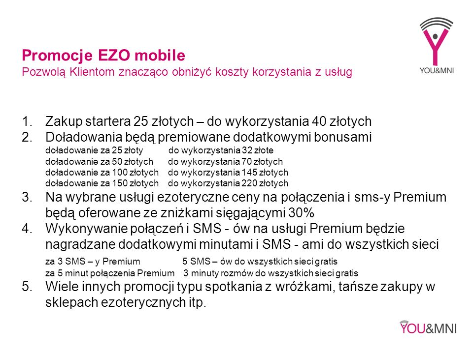 Promocje EZO mobile Pozwolą Klientom znacząco obniżyć koszty korzystania z usług. Zakup startera 25 złotych – do wykorzystania 40 złotych.