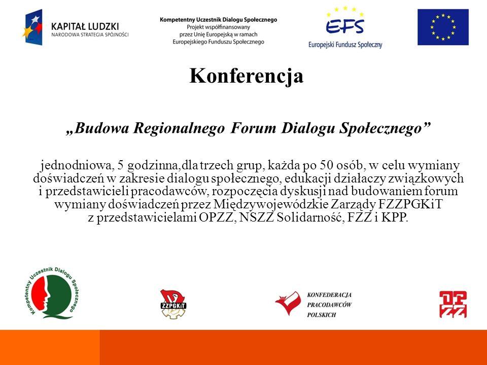 """""""Budowa Regionalnego Forum Dialogu Społecznego"""