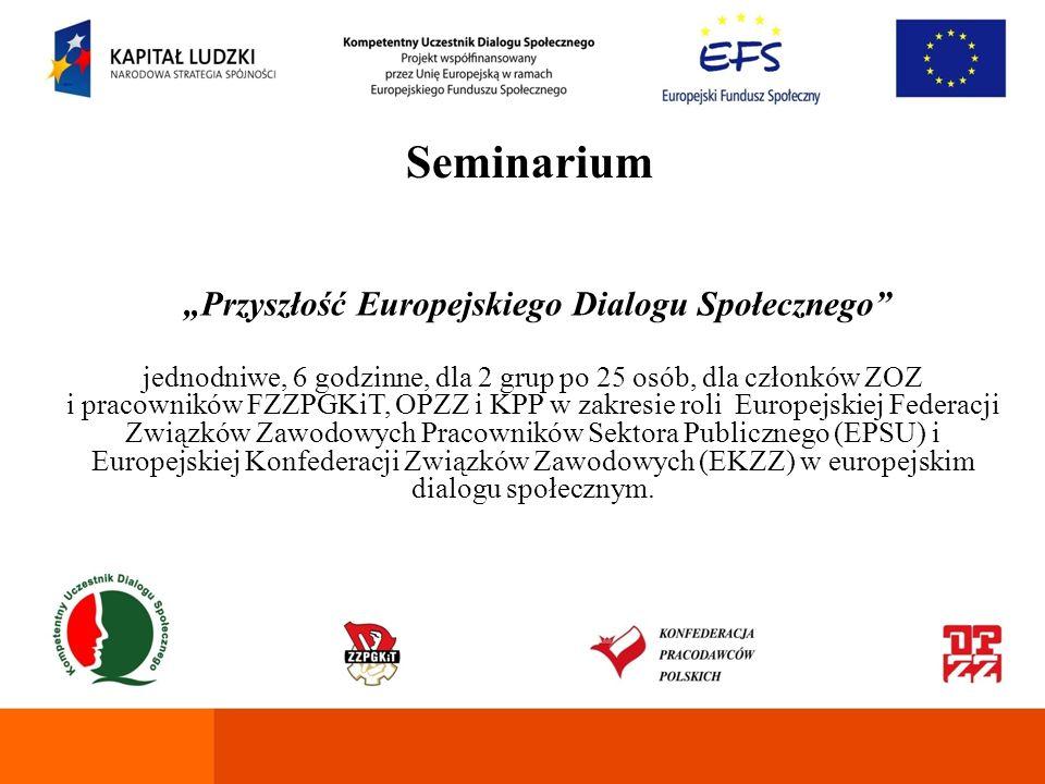 """""""Przyszłość Europejskiego Dialogu Społecznego"""