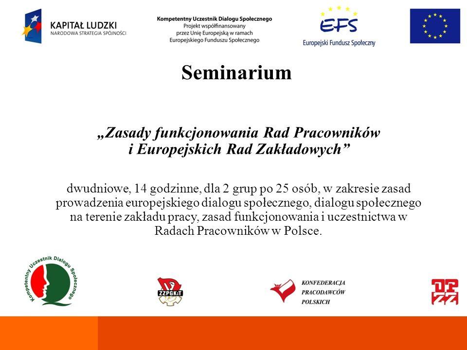 """""""Zasady funkcjonowania Rad Pracowników i Europejskich Rad Zakładowych"""