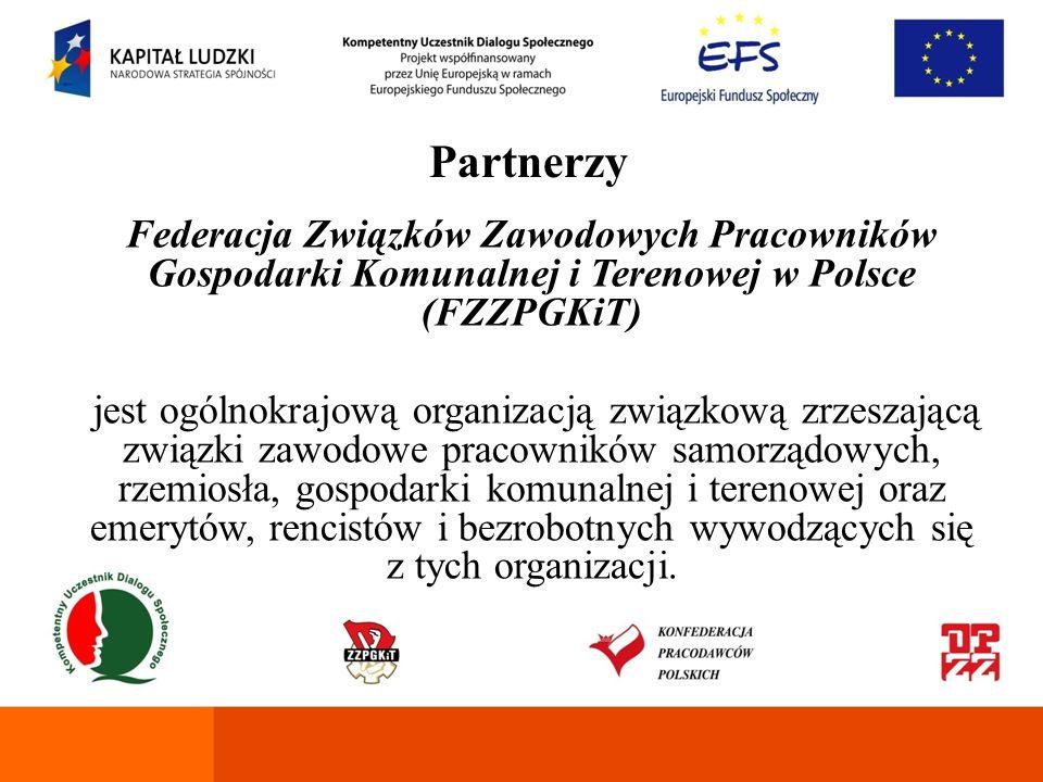 Partnerzy Federacja Związków Zawodowych Pracowników Gospodarki Komunalnej i Terenowej w Polsce (FZZPGKiT)