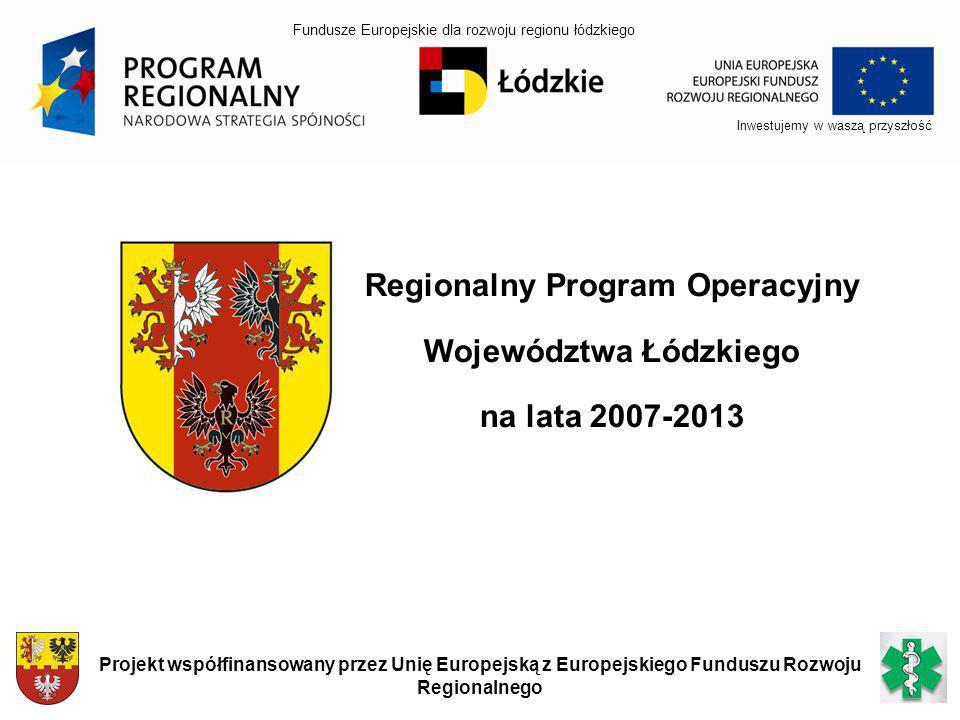 Regionalny Program Operacyjny Województwa Łódzkiego