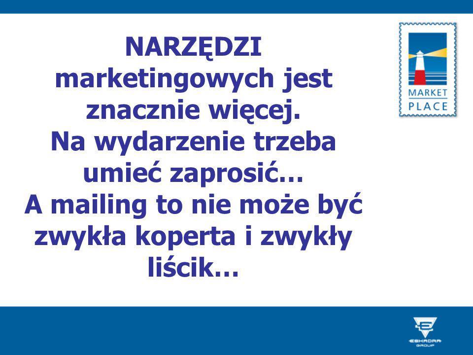 NARZĘDZI marketingowych jest znacznie więcej