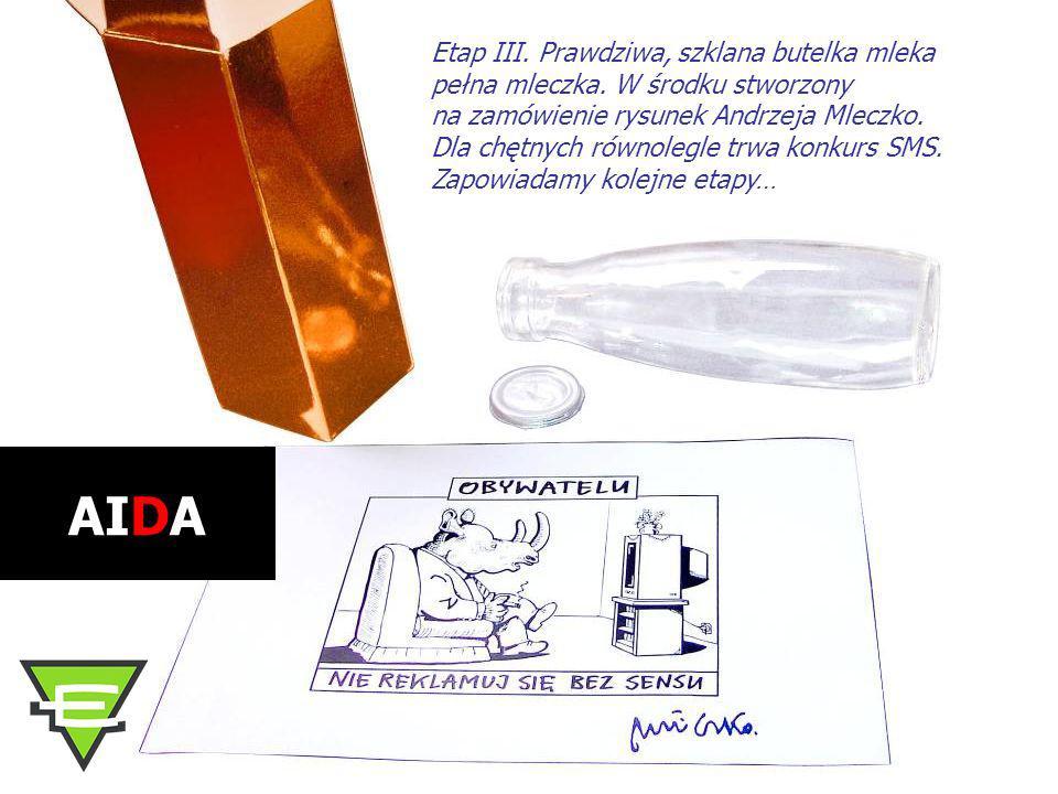 Etap III. Prawdziwa, szklana butelka mleka pełna mleczka