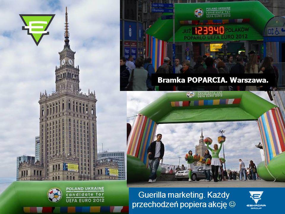 Bramka POPARCIA. Warszawa.
