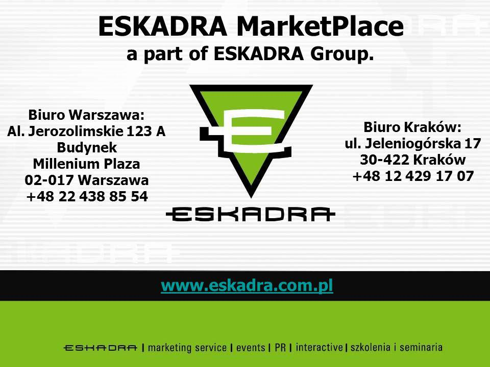 ESKADRA MarketPlace a part of ESKADRA Group.