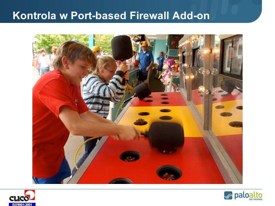 Kontrola w Port-based Firewall Add-on