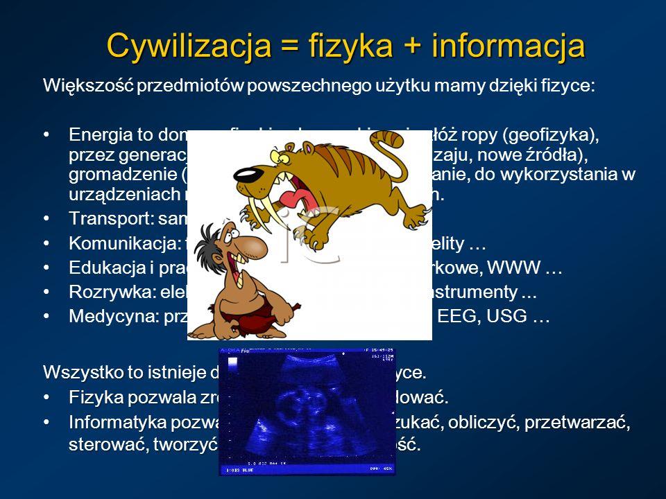 Cywilizacja = fizyka + informacja