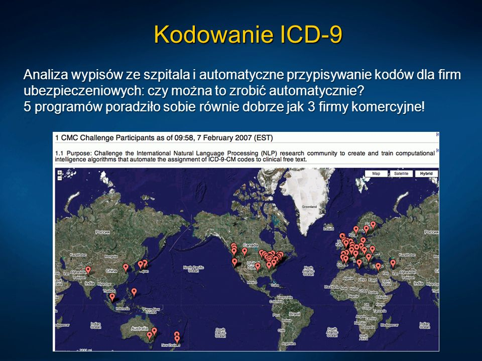 Kodowanie ICD-9 Analiza wypisów ze szpitala i automatyczne przypisywanie kodów dla firm ubezpieczeniowych: czy można to zrobić automatycznie