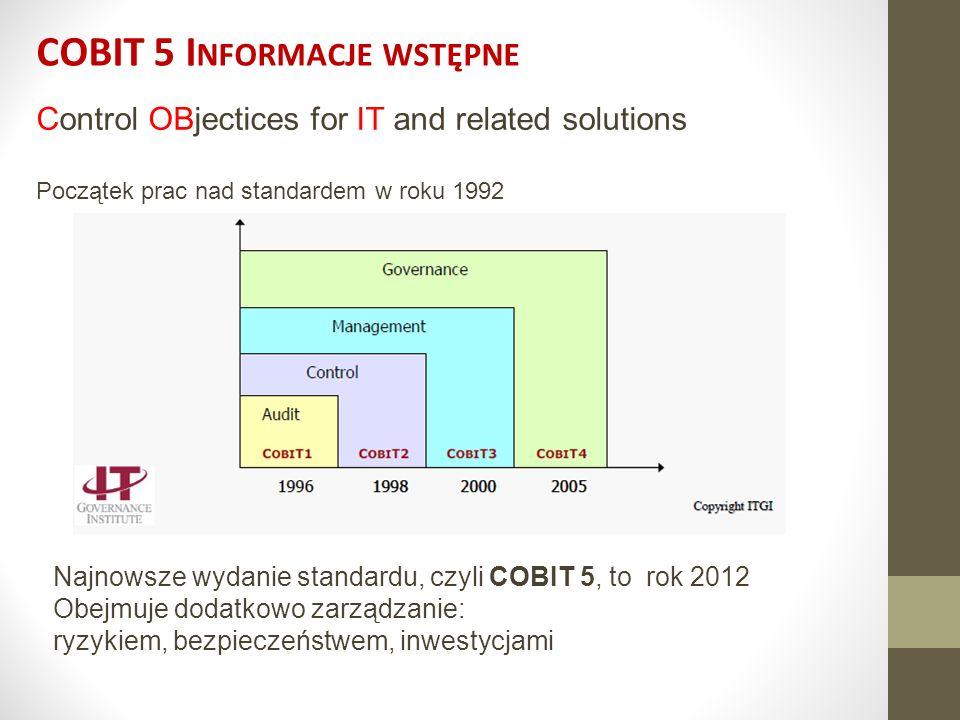 COBIT 5 Informacje wstępne