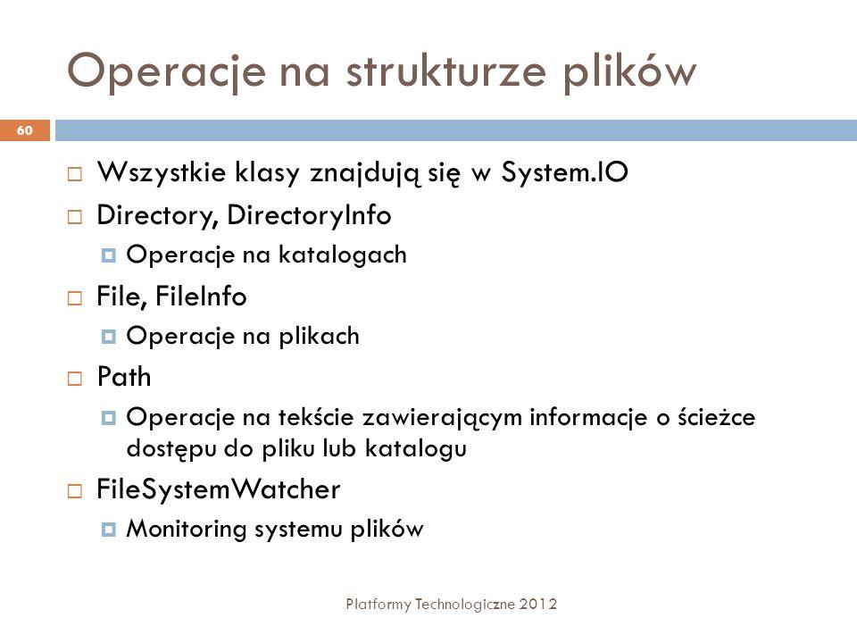 Operacje na strukturze plików