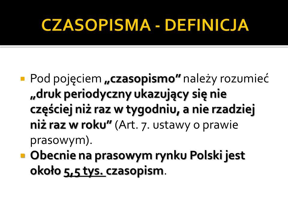 CZASOPISMA - DEFINICJA