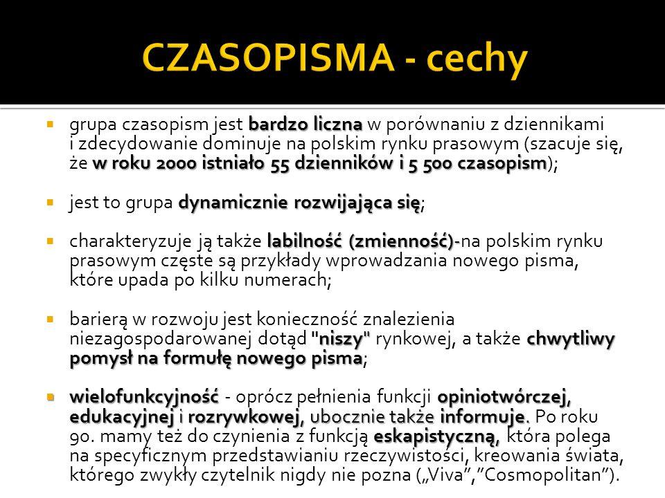 CZASOPISMA - cechy