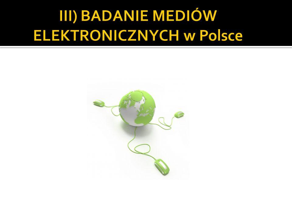III) BADANIE MEDIÓW ELEKTRONICZNYCH w Polsce