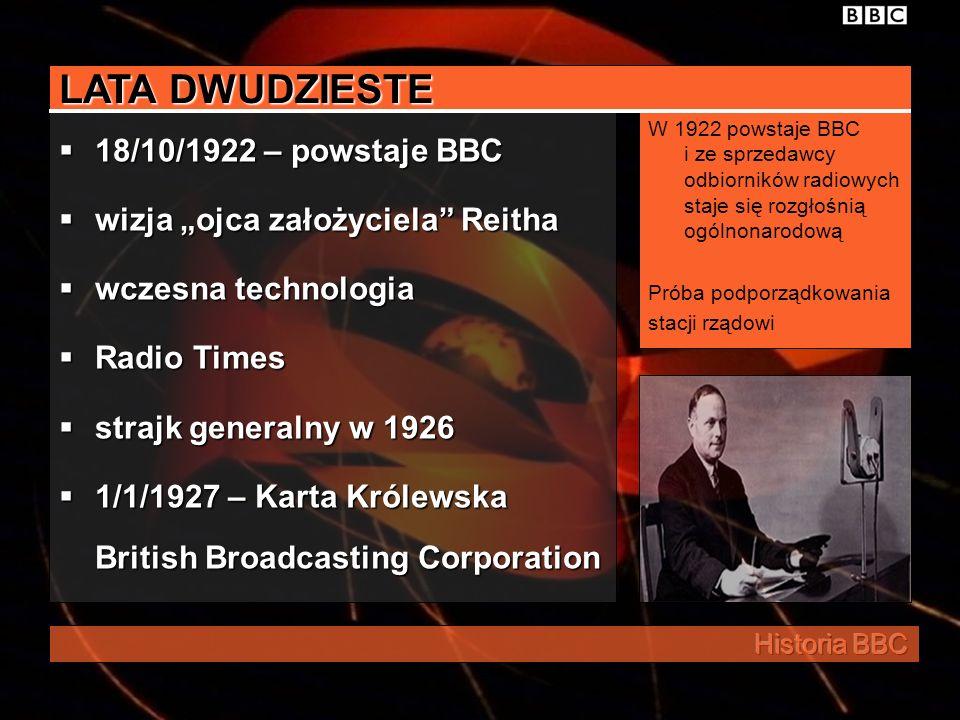 LATA DWUDZIESTE 18/10/1922 – powstaje BBC
