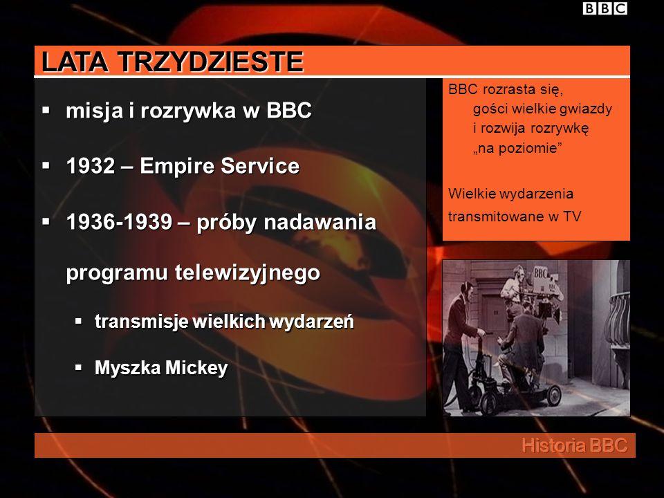 LATA TRZYDZIESTE misja i rozrywka w BBC 1932 – Empire Service