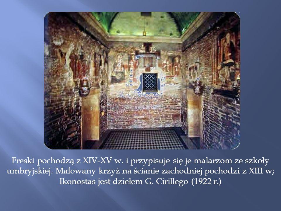 Freski pochodzą z XIV-XV w