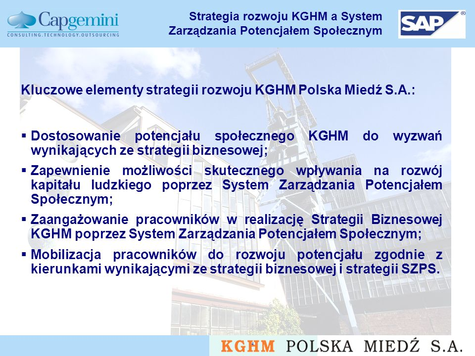 Strategia rozwoju KGHM a System Zarządzania Potencjałem Społecznym
