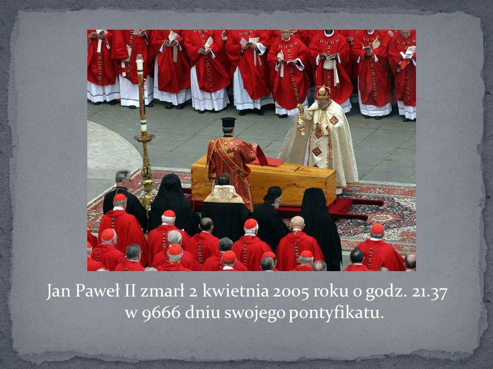 Jan Paweł II zmarł 2 kwietnia 2005 roku o godz. 21