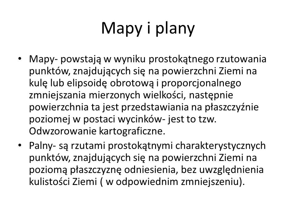 Mapy i plany