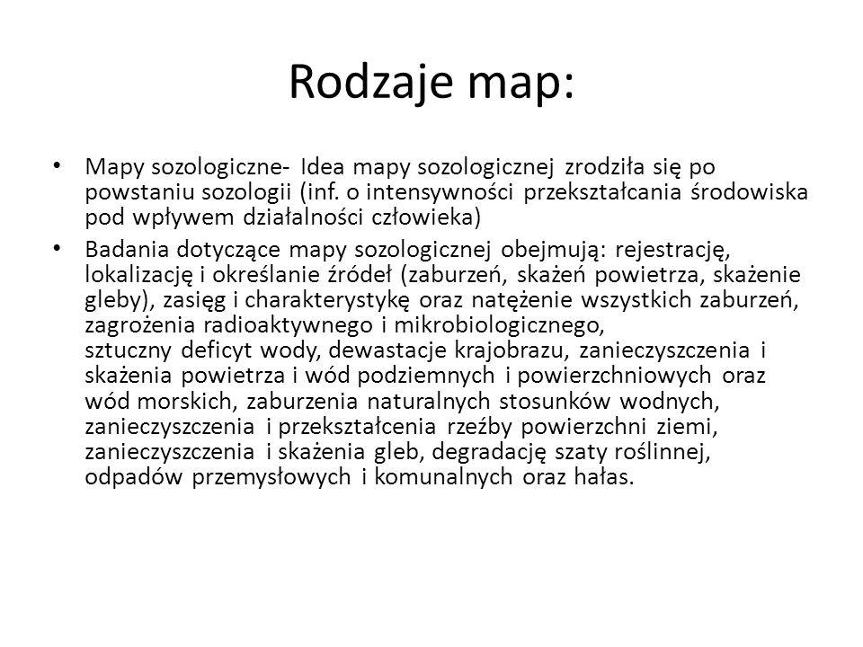 Rodzaje map: